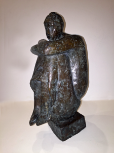 "Purchased directly from Mr. chakraborty's studio, Galerie 88, Kolkata India 12"" tall, Bronze casting"
